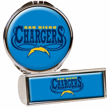 San Diego Chargers Lipstick Case and Compact Set