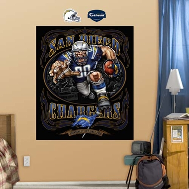 San Diego Chargers Liquid Blue Fathead Wall Graphic