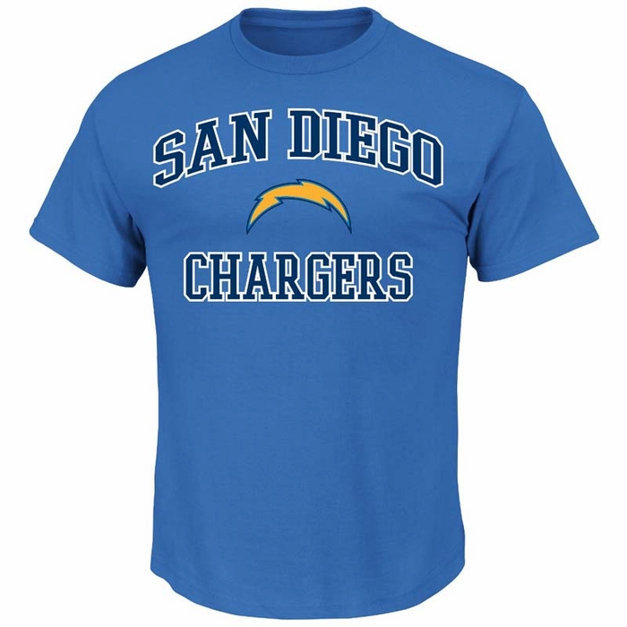 San Diego Chargers Canopy: San Diego Chargers Majestic Heart & Soul III Men's Light