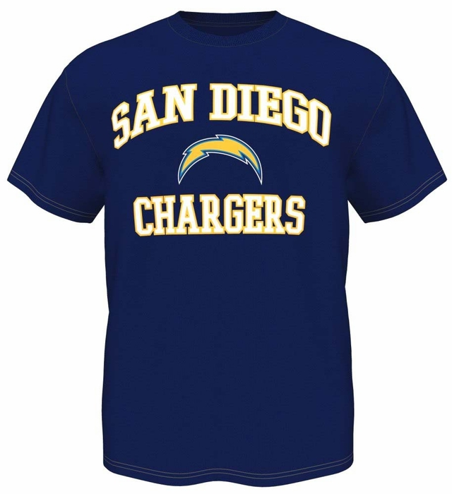 San Diego Chargers Majestic Heart Amp Soul Iii Men S Navy T