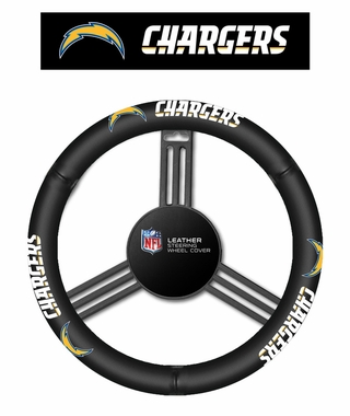 San Diego Chargers Steering Wheel Cover - Leather