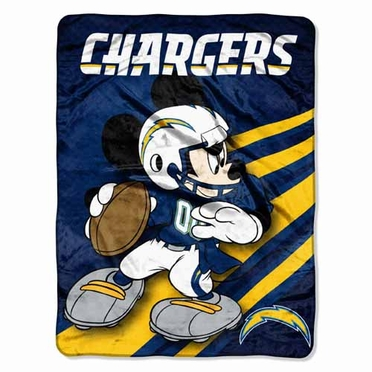 San Diego Chargers Mickey Mouse Microfiber Throw