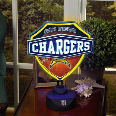 San Diego Chargers Neon Shield Table Lamp