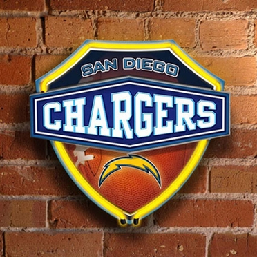 San Diego Chargers Neon Shield Wall Lamp