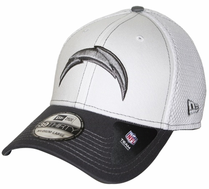 San Diego Chargers New Era 39THIRTY Blitz Neo Fitted Hat - Gray