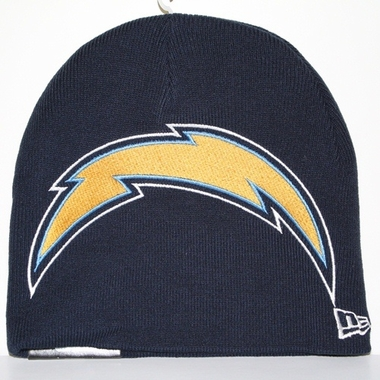 San Diego Chargers New Era Big One Too Cuffless Knit Hat