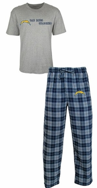 San Diego Chargers NFL Roster Men's T-shirt & Flannel Pajama Pants Sleep Set