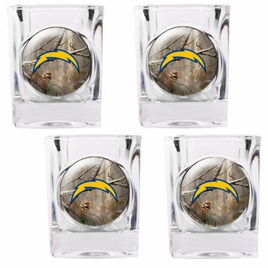 San Diego Chargers Open Field 4pc Square Shot Glass Set