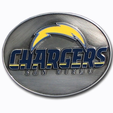 San Diego Chargers Enameled Belt Buckle
