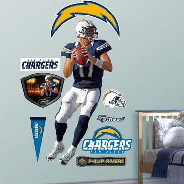 San Diego Chargers Phillip Rivers Fathead Wall Graphic