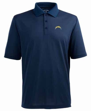 San Diego Chargers Mens Pique Xtra Lite Polo Shirt (Color: Navy)