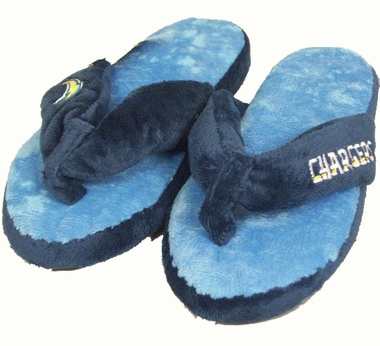 San Diego Chargers Plush Thong Slippers