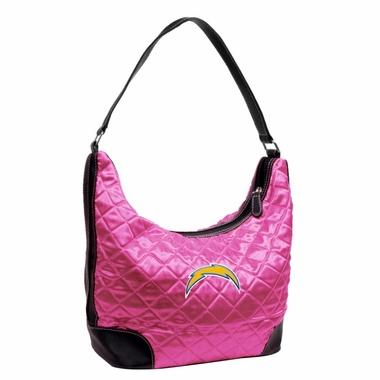 San Diego Chargers Quilted Hobo Purse