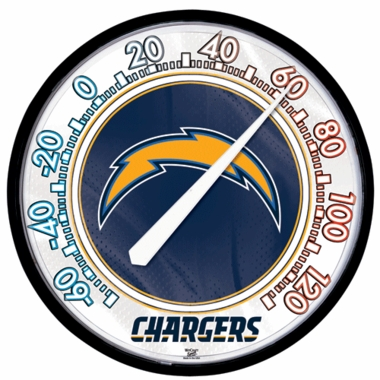 San Diego Chargers Round Wall Thermometer