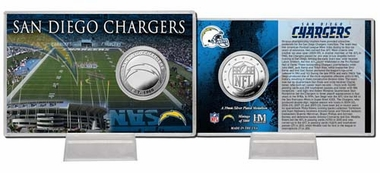 San Diego Chargers San Diego Chargers Silver Coin Card