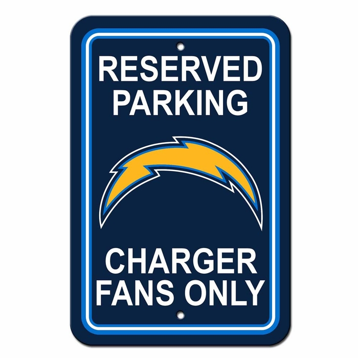 San Diego Chargers Plastic Reserved Parking Sign P