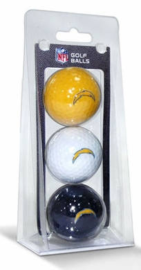 San Diego Chargers Set of 3 Multicolor Golf Balls