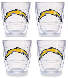San Diego Chargers Set of FOUR 12 oz. Tervis Tumblers