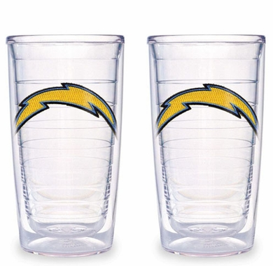 San Diego Chargers Set of TWO 16 oz. Tervis Tumblers