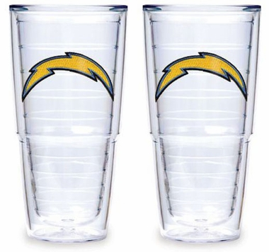 "San Diego Chargers Set of TWO 24 oz. ""Big T"" Tervis Tumblers"