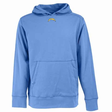 San Diego Chargers Mens Signature Hooded Sweatshirt (Alternate Color: Aqua)
