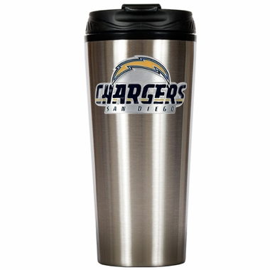 San Diego Chargers Slim Stainless Steel Travel Tumbler
