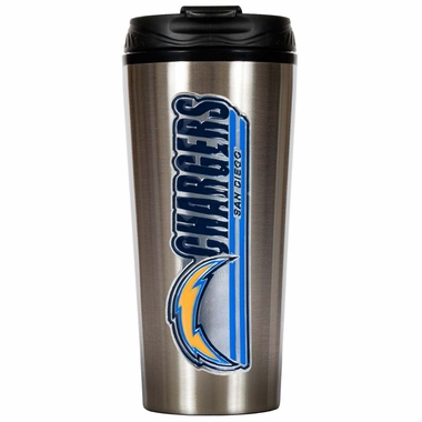 San Diego Chargers Slim Stainless Steel Travel Tumbler (Wordmark)