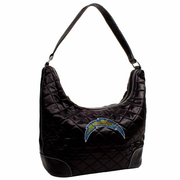 San Diego Chargers Sport Noir Quilted Hobo