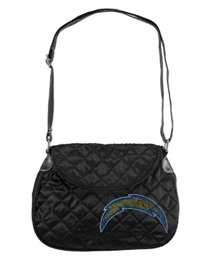 San Diego Chargers Sport Noir Quilted Saddlebag
