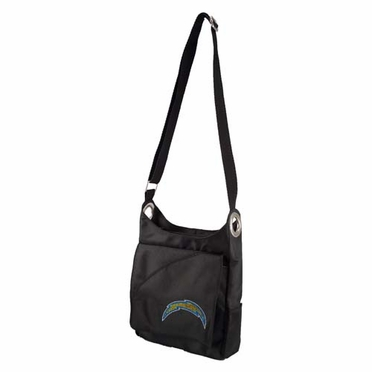 San Diego Chargers Sport Noir Sheen Crossbody Bag