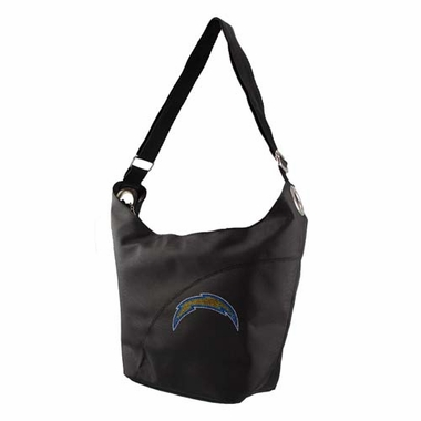 San Diego Chargers Sport Noir Sheen Hobo Purse
