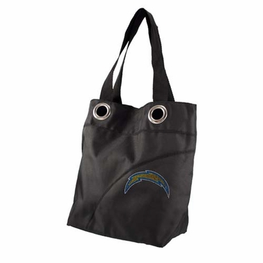 San Diego Chargers Sport Noir Sheen Tote