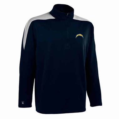 San Diego Chargers Mens Succeed 1/4 Zip Performance Pullover (Color: Smoke)