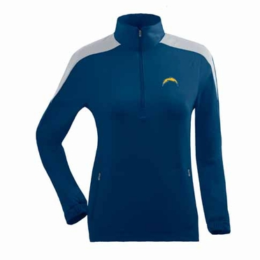 San Diego Chargers Womens Succeed 1/4 Zip Performance Pullover (Team Color: Navy)