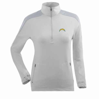 San Diego Chargers Womens Succeed 1/4 Zip Performance Pullover (Color: White)