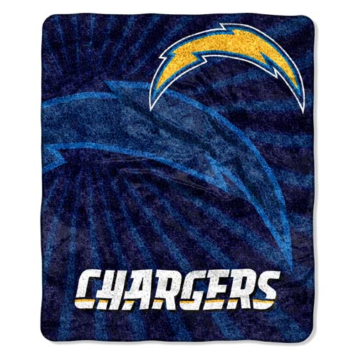 San Diego Chargers Canopy: San Diego Chargers Super-Soft Sherpa Blanket