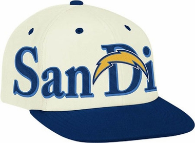 San Diego Chargers Team Name and Logo Snapback Hat
