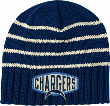 San Diego Chargers Throwback Felt Logo Cuffless Knit Hat