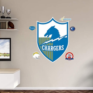 San Diego Chargers Throwback Logo Logo Fathead Wall Graphic