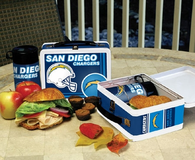 San Diego Chargers Tin Lunch Box