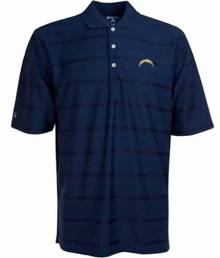 San Diego Chargers Mens Tonal Polo (Team Color: Navy)