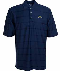 San Diego Chargers Mens Tonal Polo (Team Color: Navy) - X-Large