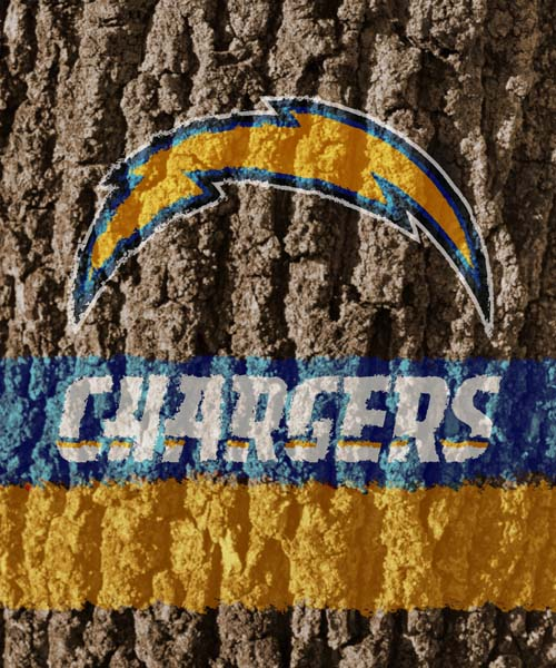 San Diego Chargers Canopy: San Diego Chargers Tree Sign