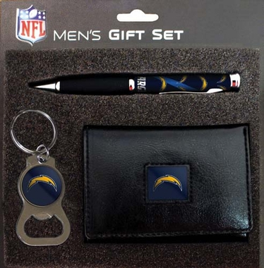 San Diego Chargers Trifold w/Pen & Keychain Gift Set