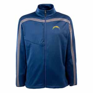 San Diego Chargers Mens Viper Full Zip Performance Jacket (Team Color: Navy) - X-Large