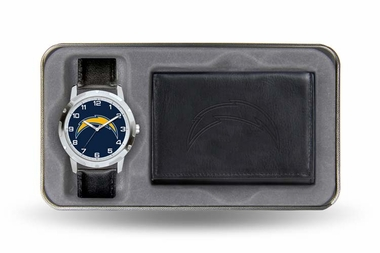 San Diego Chargers Watch and Wallet Gift Set