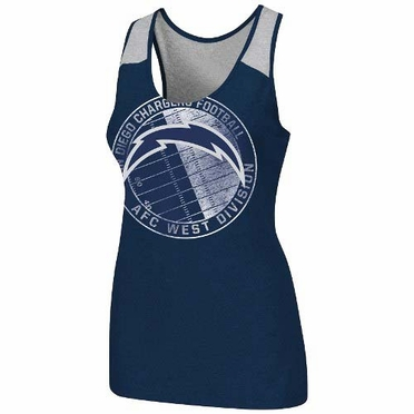 """San Diego Chargers Women's Majestic """"Play Time Tank VI"""" Tank Top Shirt"""