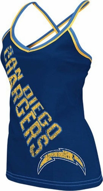 San Diego Chargers Womens Fierce Fan Cheer Tank Top