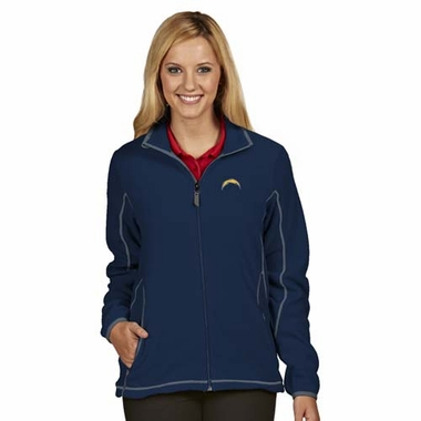 San Diego Chargers Womens Ice Polar Fleece Jacket (Color: Navy)