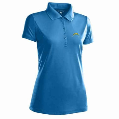 San Diego Chargers Womens Pique Xtra Lite Polo Shirt (Alternate Color: Aqua)